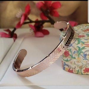 Rose Gold Cuff Bangle Bracelet